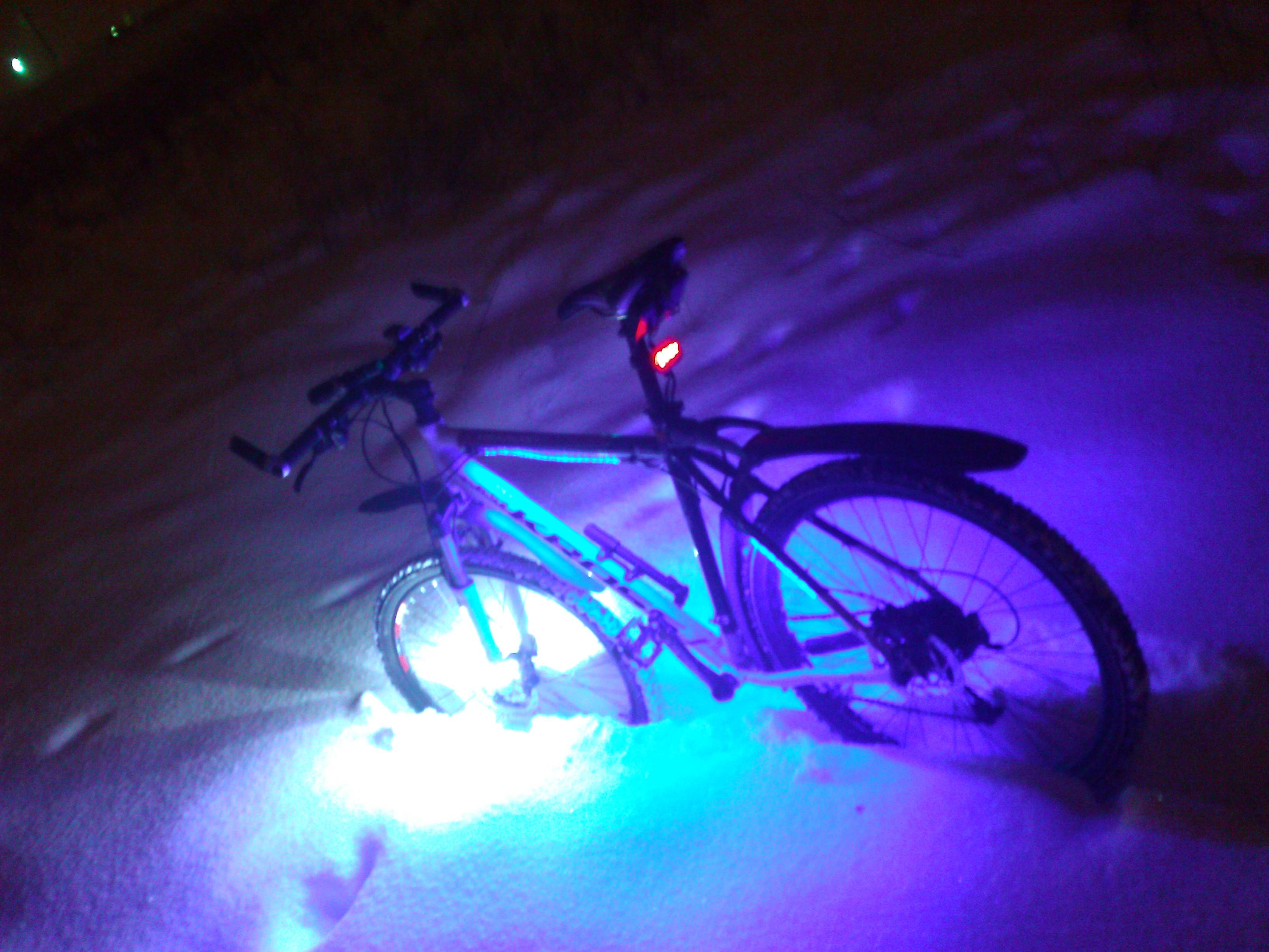 Как сделать подсветку для велосипеда
